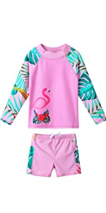 Girls Two Piece Swimsuit Floral