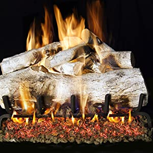 Midwest Hearth Vermiculite Gas Fireplace Log Set