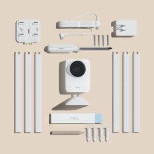 Setup & Let It Be. Everything you need to install the Miku Pro Smart Baby Monitor comes in the box