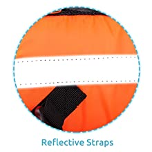 Reflective Straps Help to spot the dogs quickly in dark situations