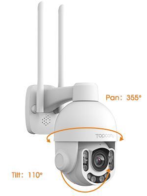 Pan 355° Tilt 110°-Topcony CCTV Security Camera