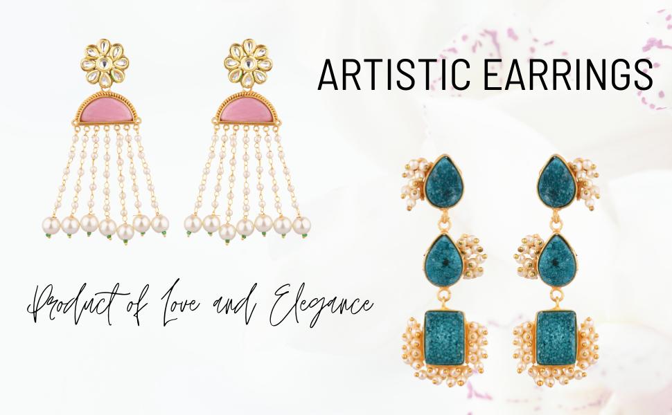 Efulgenz Indian Earrings Jewelry
