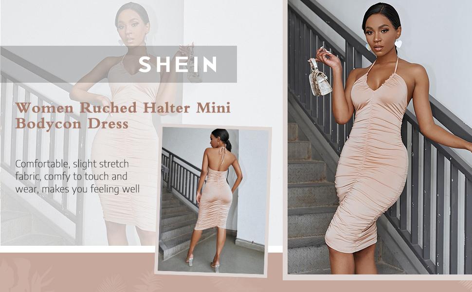 women mini ruched dress