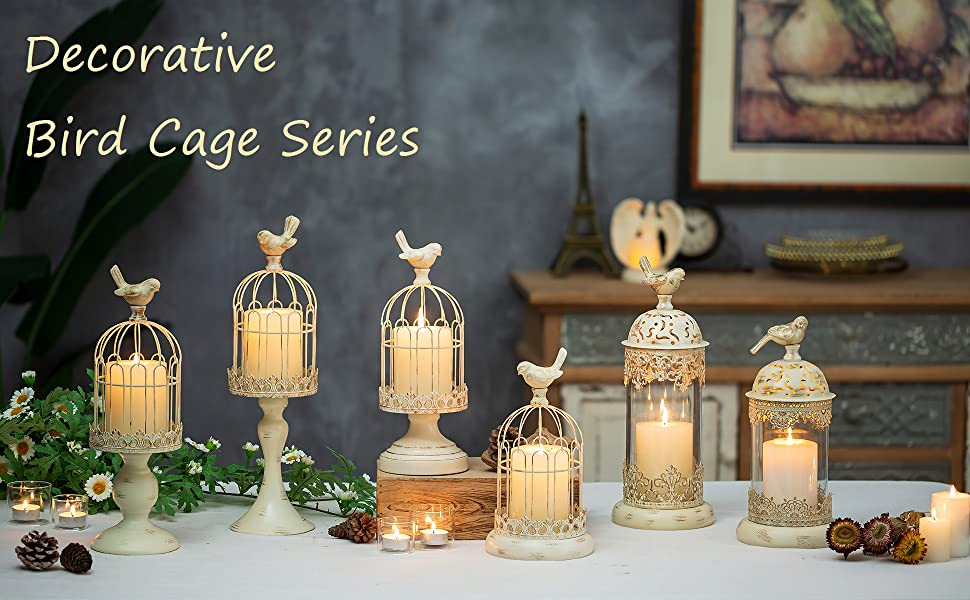 decorative bird cage candle holder series in Romadedi