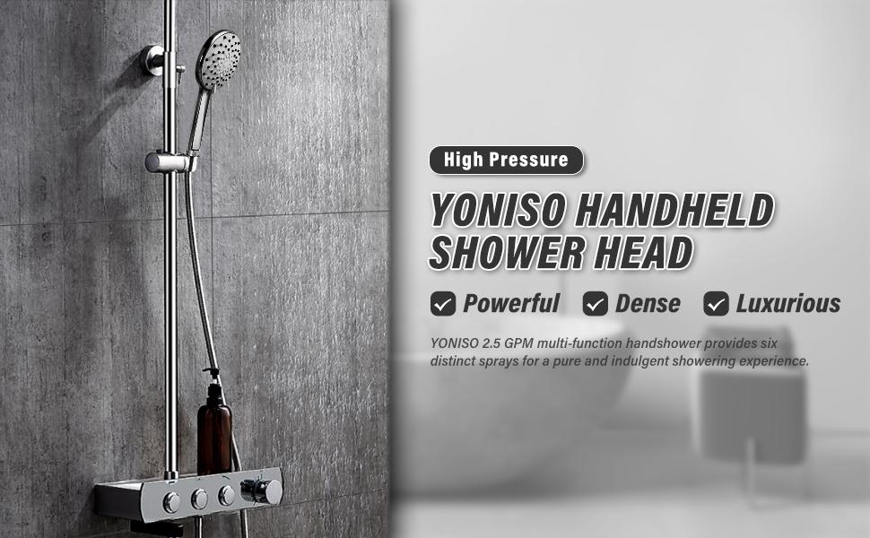 YONISO HANDHELD SHOWER HEAD