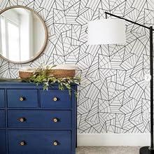 Peel and stick geometric wallpaper