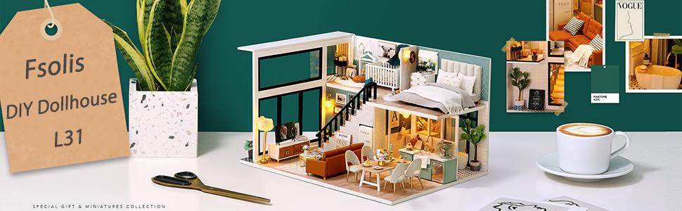Fsolis diy dollhouse kit L31
