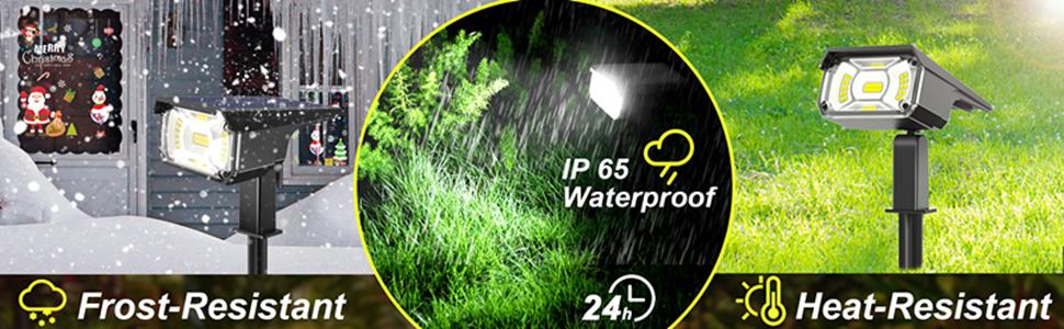 solar outdoor lights waterproof
