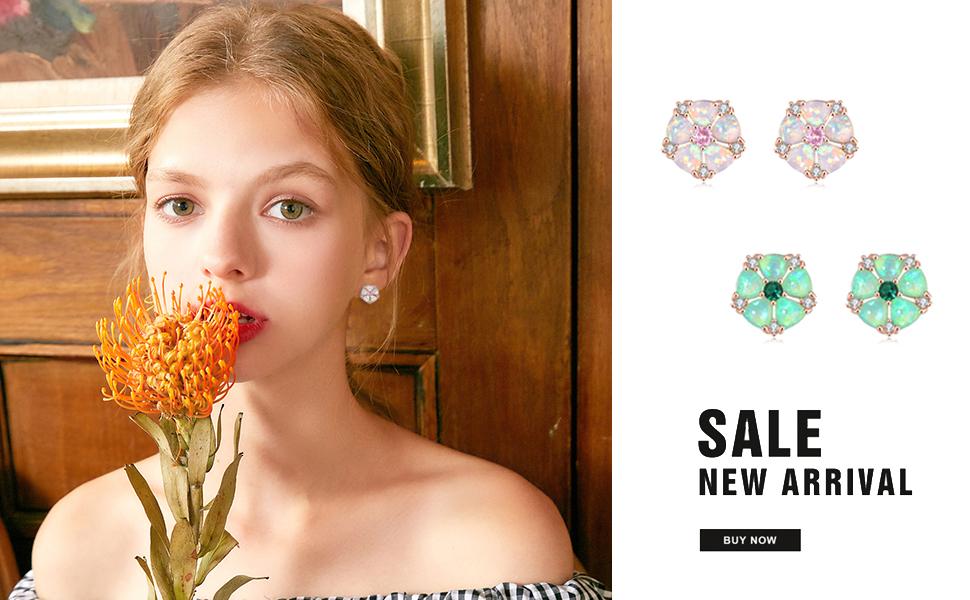 flower earrings for women