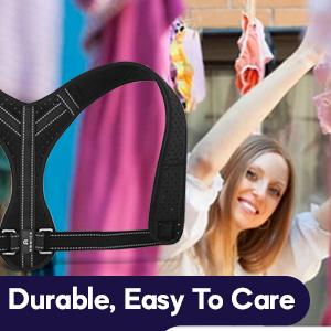 Durable back belt support for men posture corrector for men back straightener for neck hump