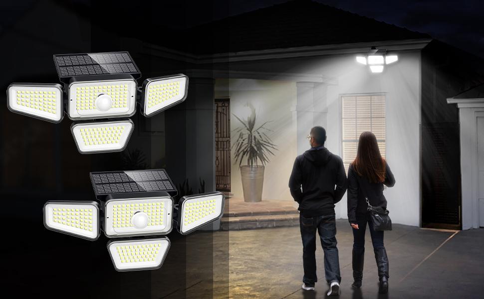 solar powered motion sensor security light