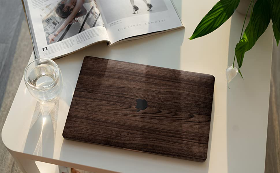 Unique Macbook Pro M1 vinly  sticker skin  A2338 A1708 With touch bar wood skin cool 2021 a2289