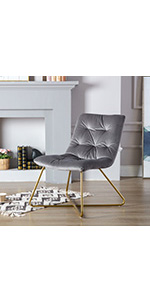 Tufted Armless Lounge Chair