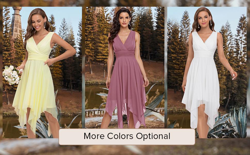 Short bridesmaid dresses chiffon party dresses long evening gowns formal wedding guest dresses