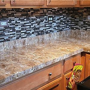 Brown Marble Contact Paper Marble Countertops Peel and Stick Wallpaper Waterproof Self Adhesive