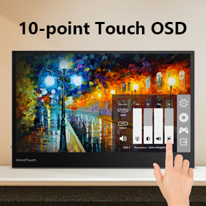 10-point touch OSD