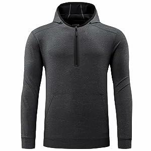 mens grey hooded tracksuit top