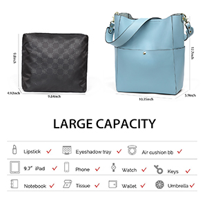 women leather hobo bags large