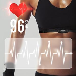 Heart Rate Monitor Cadence Speed Sensor Bike Computer Odometer Backlight Altimeter Speedometer