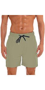 khaki swim trunks for men