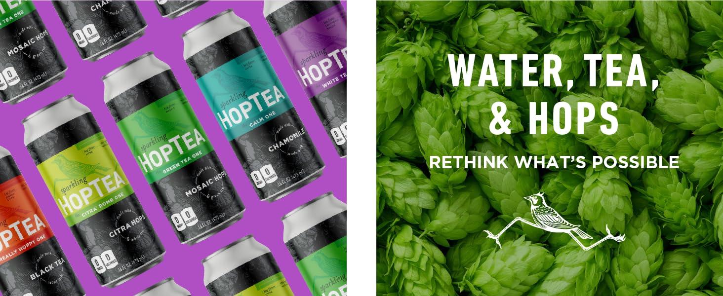 Hoplark HopTea Ingredients Water Tea and Hops