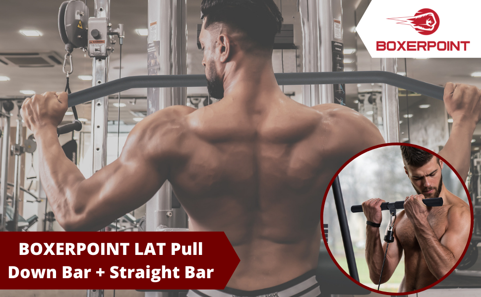 Pulldown Attachment Set for pulley machine workout