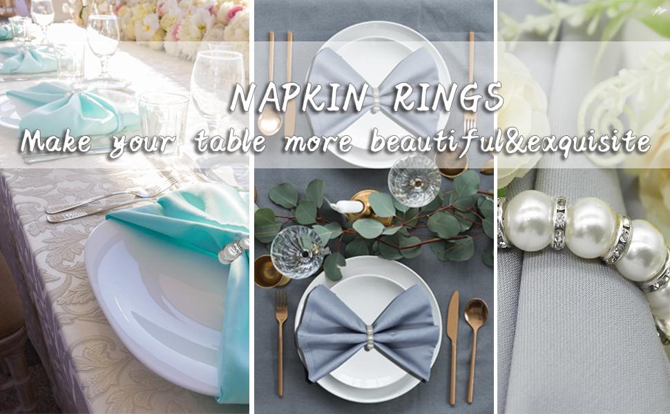Pearl Napkin Rings Set of 12