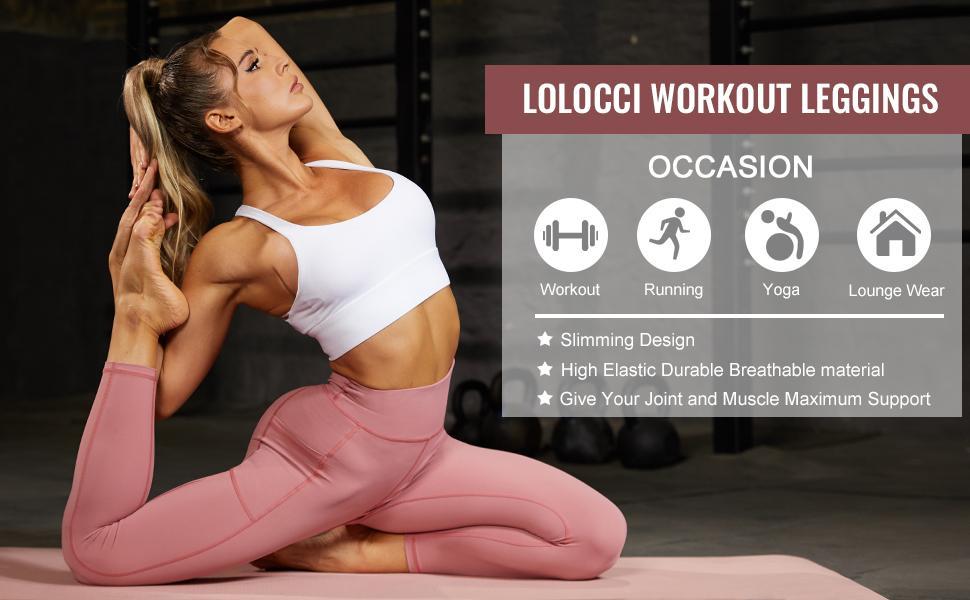 high waisted leggings for women butt lift women workout leggings yoga pants with deep pockets gym