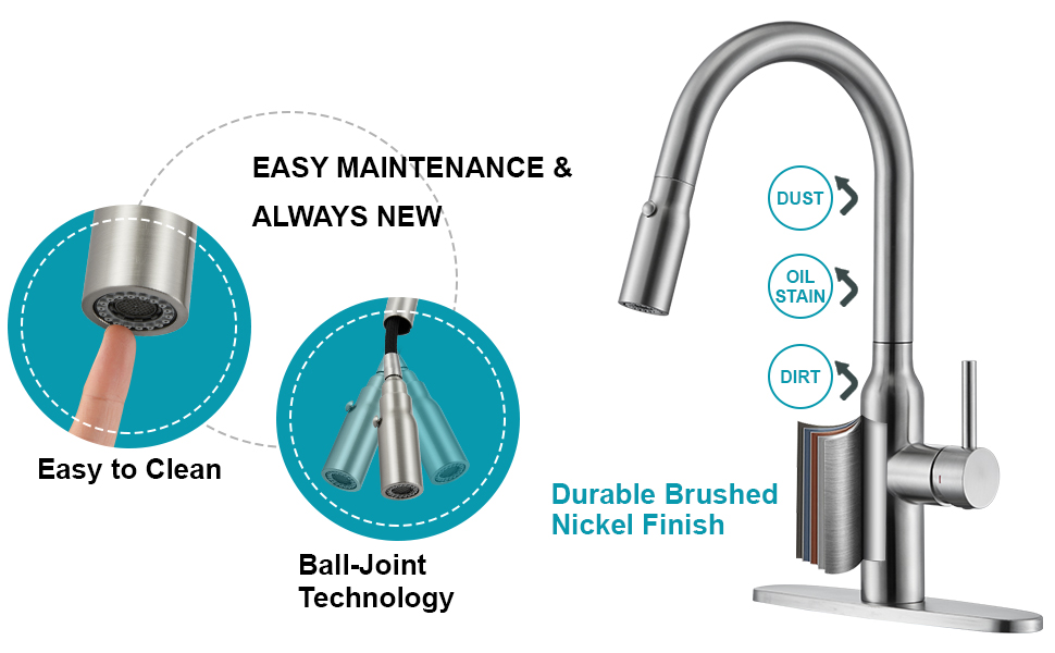 smart kitchen faucet brushed nickel stainless steel,touch faucet for kitchen sink,bar faucet