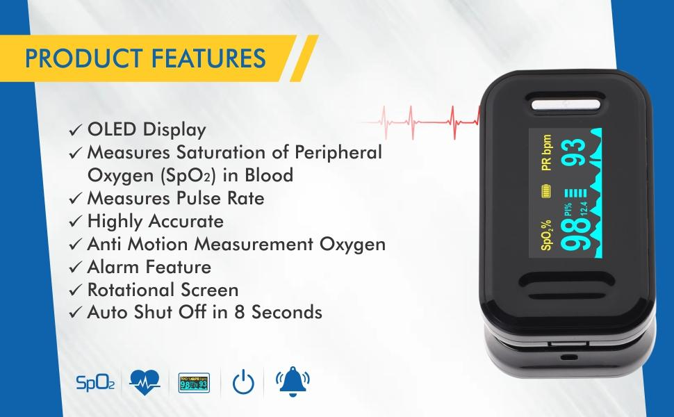 accusure yk81c pulse oximeter detailed feature