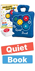 Quiet Book Montessori Toys for Toddlers Travel Toy