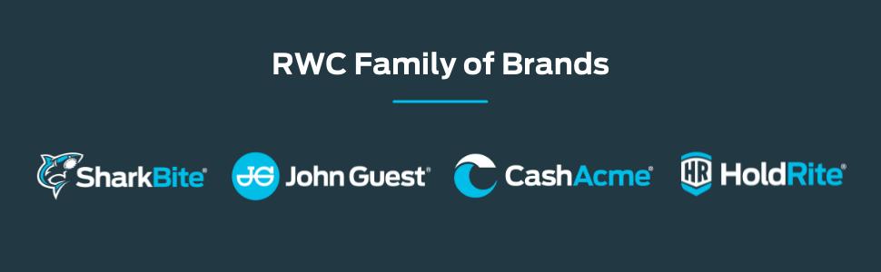 RWC SharkBite John Guest HoldRite Cash Acme Plumbing Parts Solutions Valves Pipes