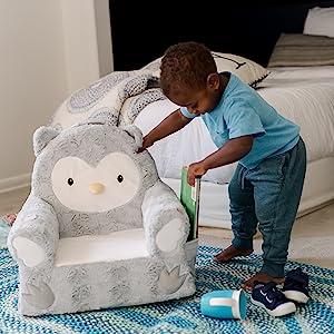 Soft Landing Kids Premium Sweet Seat - Grey Owl
