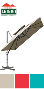 10X10FT Umbrella Khaki