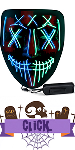 Halloween mask light up