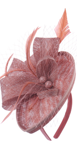 Fascinator Hats for Women Ladies Feather Cocktail Party Hats Bridal Headpieces