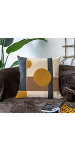 Golden brown pillow cover