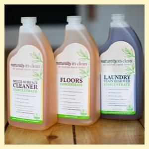 Three concentrate product bottles
