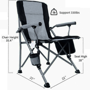 blue camping chair