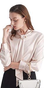 silk blouse for women formal