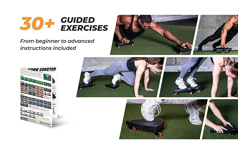 Over 30 exercises in the guided instructions