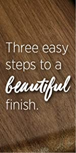 Three easy steps to a beautiful finish