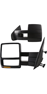 Towing Mirrors Compatible with 2007-2014 Ford F150