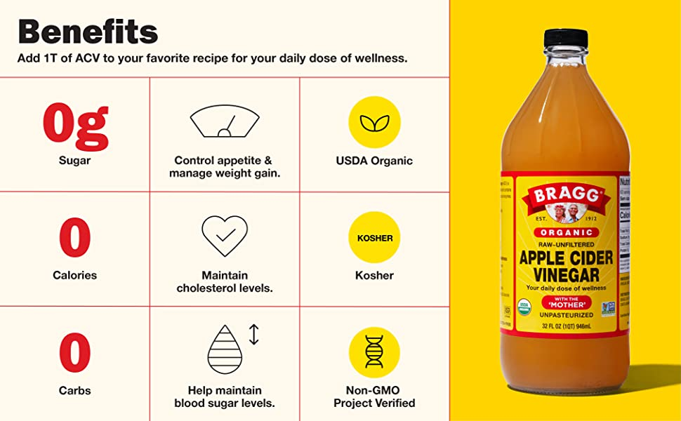 Add 1 T of ACV to your favorite recipe for your daily dose of wellness