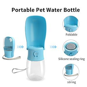 Dog Water Bottle, Leak Proof Portable Puppy Water Dispenser with Drinking Feeder for Pets