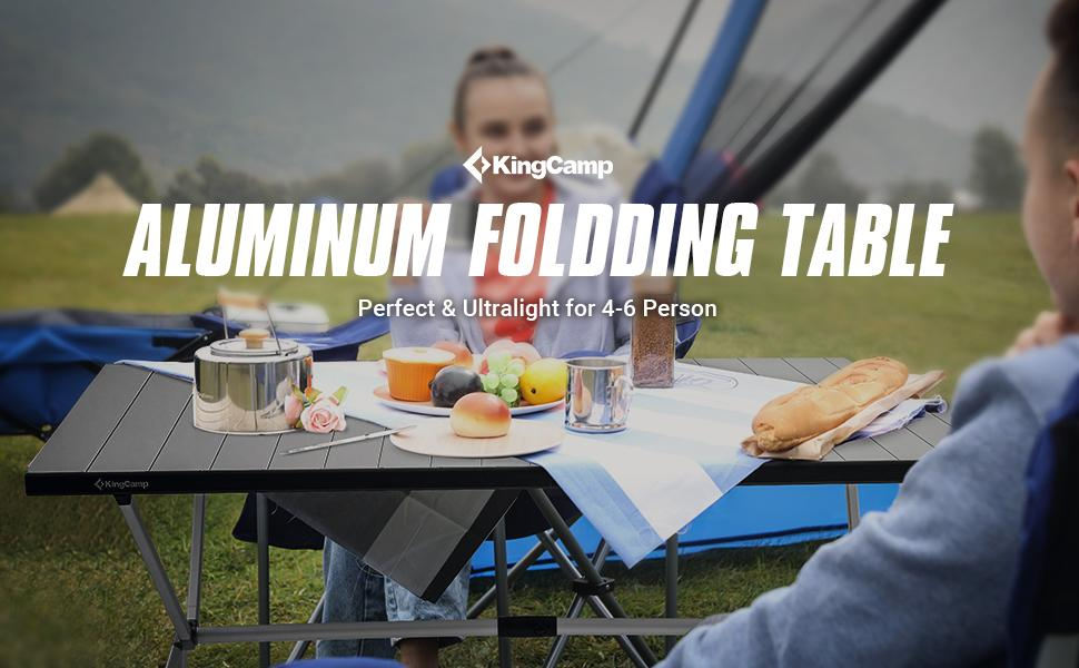 KingCamp Aluminum Table, Big Size for Camping