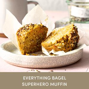 Photo of Everything Bagel Superhero Muffin