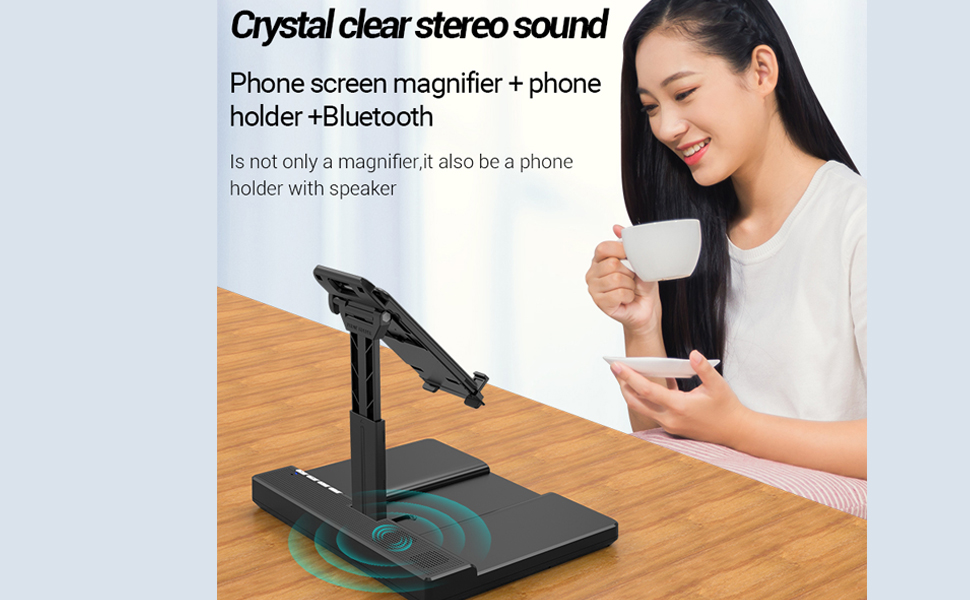 Bluetooth audio phone holder. Usually relax listening to music, play with your mobile phone,