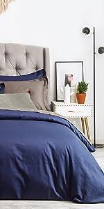 navy blue duvet cover cotton
