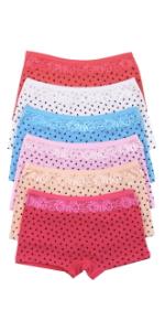 girls pack of six cotton boyshorts boy short underwear panty panties